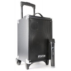 FENTON ST050 8″ PORTABLE SPEAKER WITH WIRELESS MICROPHONE AND BLUETOOTH 130W